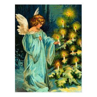 Carte postale vintage d'ange de Noël