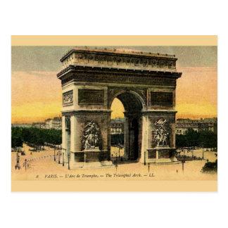 Carte postale vintage d'Arc de Triomphe