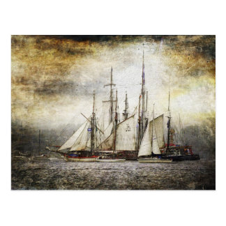 Carte postale vintage de bateau