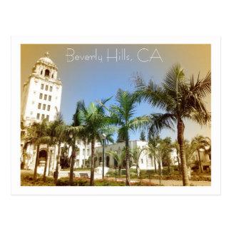 Carte postale vintage de Beverly Hills de style !