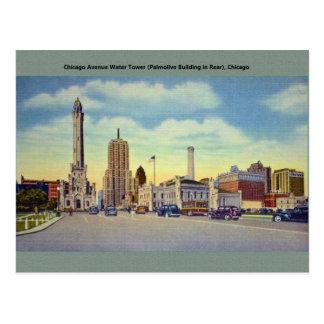 Carte postale vintage de Chicago