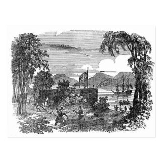 Carte postale vintage de colonie de Jamestown