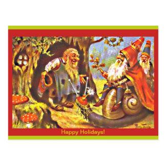 Carte postale vintage de gnomes de Noël (copie)