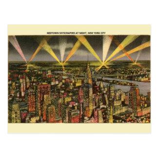 Carte postale vintage de gratte-ciel de New York