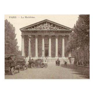 Carte postale vintage de La Madeleine Paris