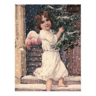 """Carte postale vintage de Noël """"de la livraison d'a"""