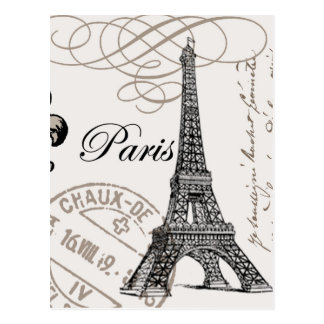 Carte postale vintage de Paris…