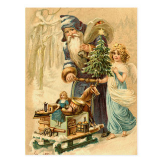 Carte postale vintage de Père Noël d'Allemand