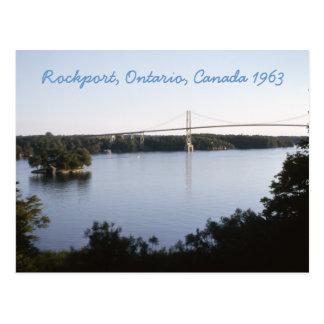 Carte postale vintage de Rockport Ontario Canada
