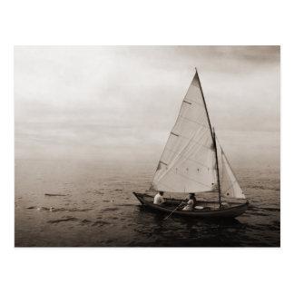 Carte postale vintage de voilier