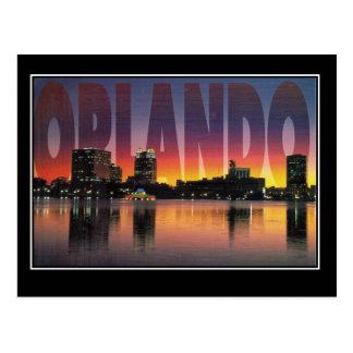 Carte postale vintage de voyage d'Orlando la
