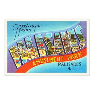 Carte postale vintage de voyage du New Jersey NJ Photographie