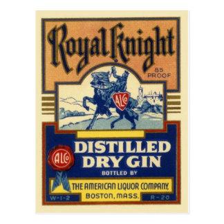 Carte postale vintage d'étiquette de boisson