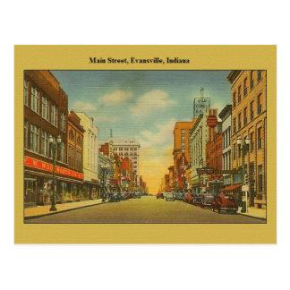 Carte postale vintage d'Evansville Indiana
