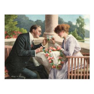 Carte Postale Vintage madame et monsieur, amours