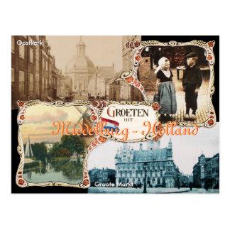 Carte postale vintage Middelbourg de la Hollande