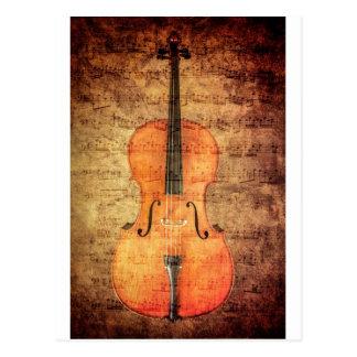 Carte Postale Violoncelle vintage