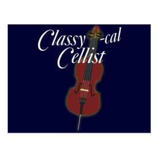 Carte Postale violoncelliste Chic-calorie