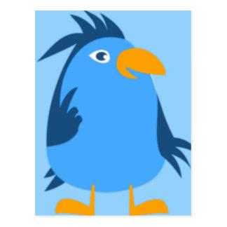 Carte Postale Visage bleu d'oiseau