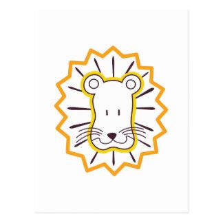 Carte Postale Visage de lion