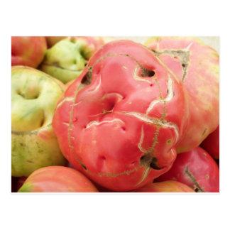 Carte Postale Visage de tomate