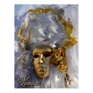 Carte Postale Visage d'or