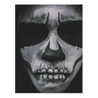 Carte Postale Visage effrayant noir et blanc…