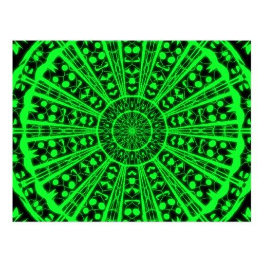 Carte postale vision psychédélique verte