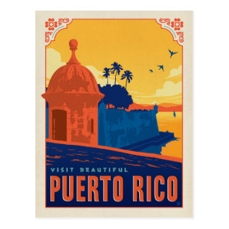 Carte Postale Visite beau Porto Rico