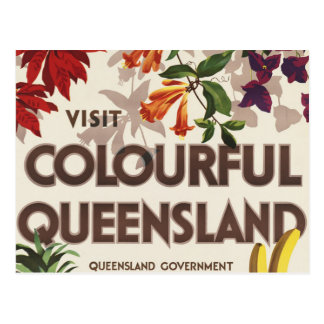 Carte Postale Visite Queensland coloré Australie