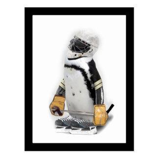 Carte Postale Vitesse de port d'hockey de petit pingouin