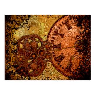 Carte Postale Vitesse grunge et horloge de Steampunk