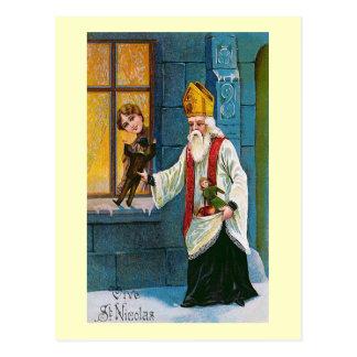"""Carte Postale """"Vive Français vintage de St Nicolas"""""""