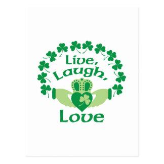 Carte Postale Vivent l'amour de rire