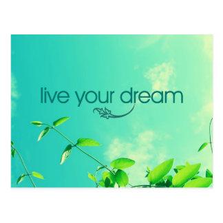 Carte Postale Vivent votre rêve. Ciel vibrant