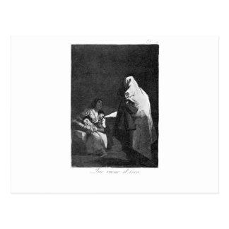 Carte Postale Voici venir le fantôme-man par Francisco Goya