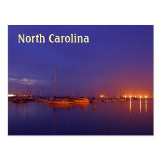 Carte Postale Voiliers de la Caroline du Nord dans la marina au