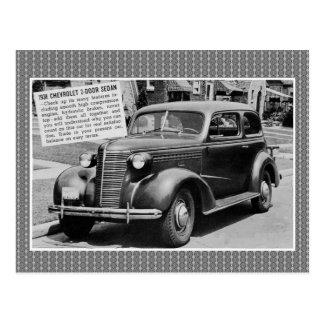 Carte Postale Voiture 1938 de classique de berline de porte de