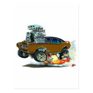 Carte Postale Voiture de 1968 GTO Brown