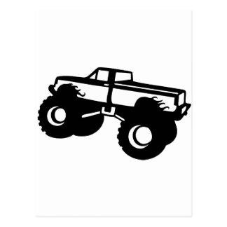 Carte Postale voiture de camion de monstre la grande reprennent