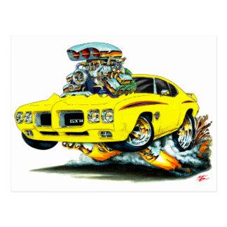 Carte Postale Voiture de jaune de juge de 1970 GTO