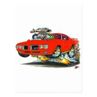 Carte Postale Voiture de rouge de 1970 GTO