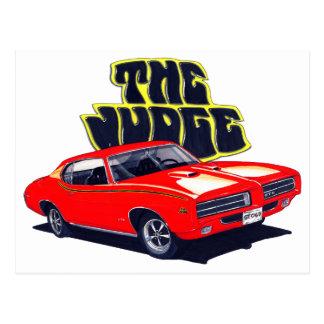 Carte Postale Voiture de rouge de juge de 1969 GTO
