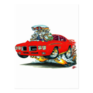 Carte Postale Voiture de rouge de juge de 1970 GTO