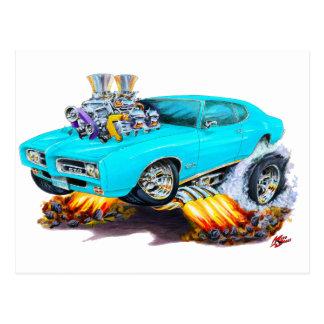 Carte Postale Voiture de turquoise de 1969 GTO