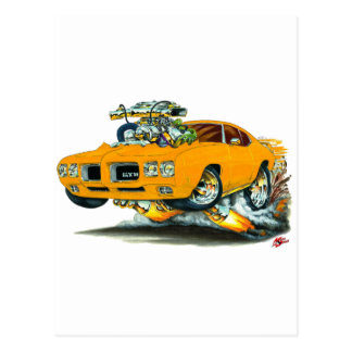 Carte Postale Voiture d'orange de 1970 GTO