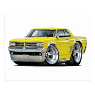 Carte Postale Voiture jaune de 1964 GTO