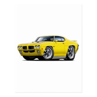 Carte Postale Voiture jaune de 1970 GTO