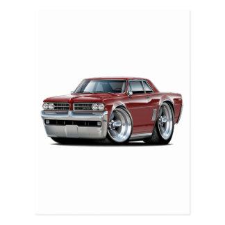 Carte Postale Voiture marron de 1964 GTO
