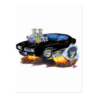 Carte Postale Voiture noire de 1969 GTO
